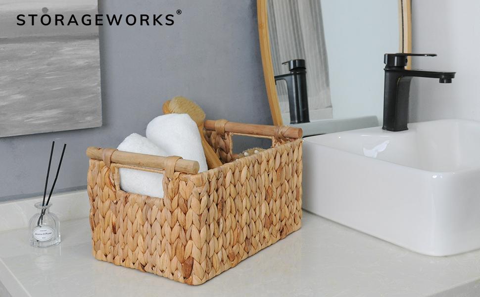 StorageWorks wicker baskets