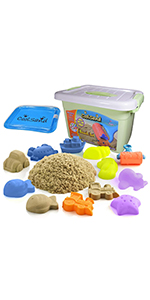 CoolSand Deluxe Bucket Beach Edition Play Sand Kit for Kids