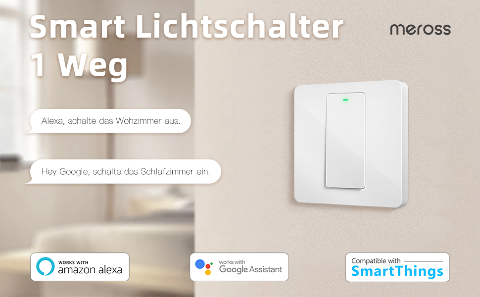 1//2 Weg Smart WiFi UK//EU Panel Taste Wandschalter Lichtschalter APP Für Alexa