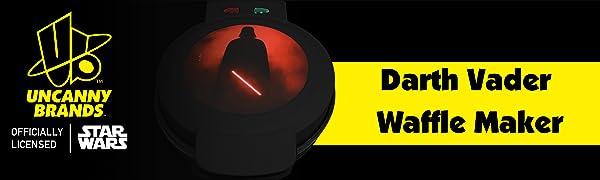 Darth Vader Waffle Maker Banner Uncanny Brands