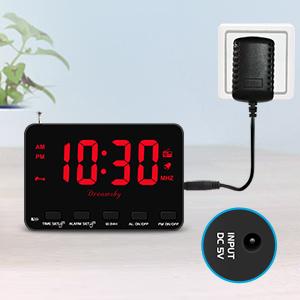 plug in clock radio