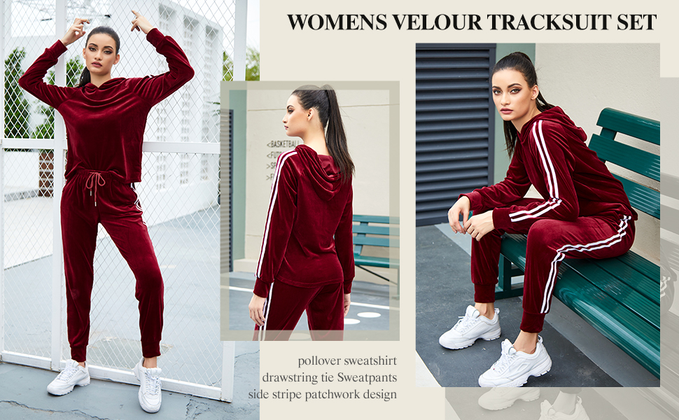 Super soft and stretchy, worm and comfy tracksuit sweatsuit