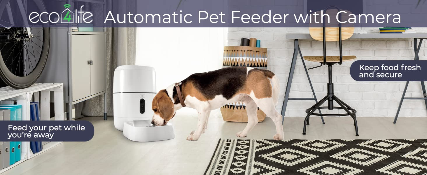 eco4life automatic pet feeder with camera Pet care Pet lovers safe pet