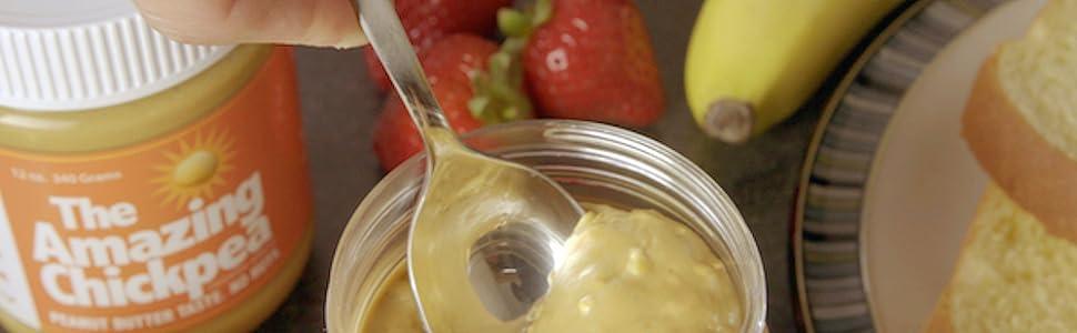 Crunchy Chickpea Spread, Nut Butter Alternative, Peanut Butter