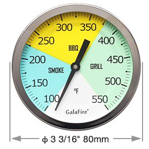 bbq thermometer gauge smoker grill barbecue wood cooking food meat temperature grilling accessories