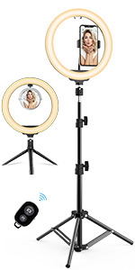 10.2'' LED Selfie Ring Light with Tripod Stand