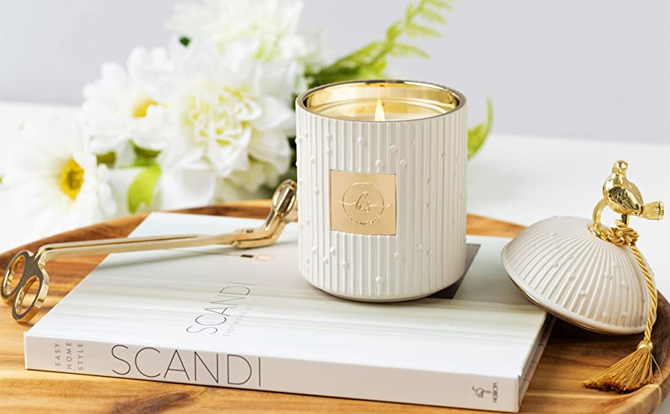 luxury candles scented candle home decor wick trimmer soy natural wax coffee table decor