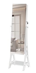 Frameless Free Standing Dressing Mirror Cabinet