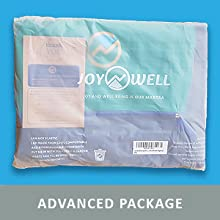 Extra large yoga mat bag packaged in non-plastic technologically advanced cornstarch package