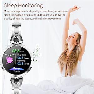 fitness tracker sleep minitor smart watch sleep tracker silver gold smartwatches luxury womens watch