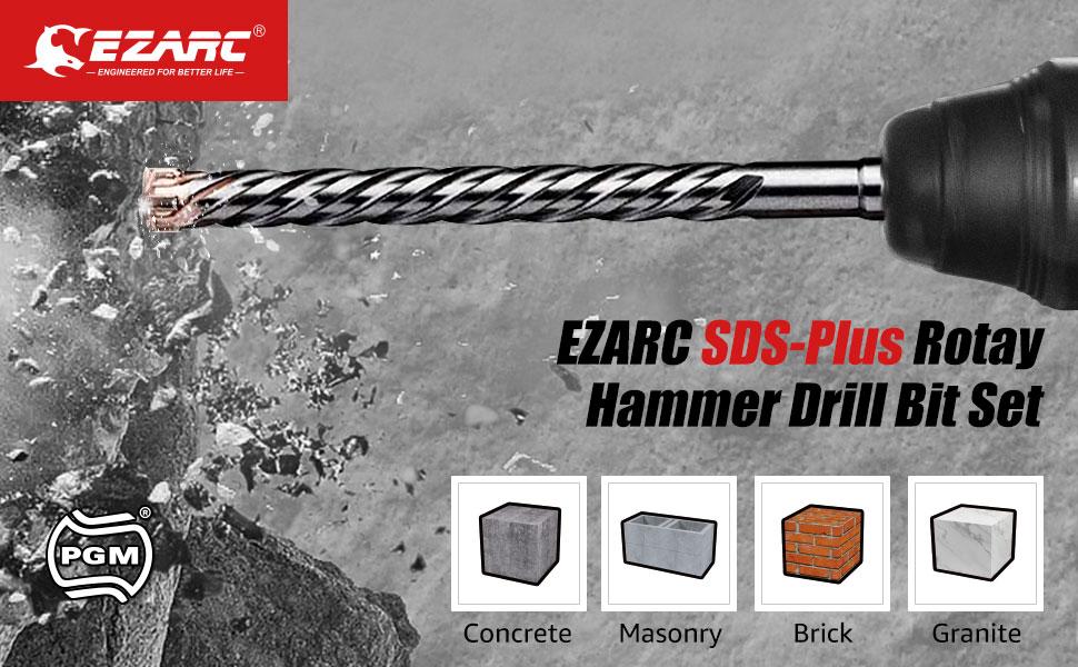 EZARC SDS-Plus Rotary Hammer Drill Bit Set