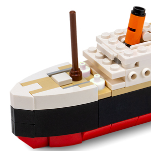 100/% Compatible Mid Sized 217 Pieces Brick Loot Titanic Building Bricks Set fits Lego and Other Major Brands