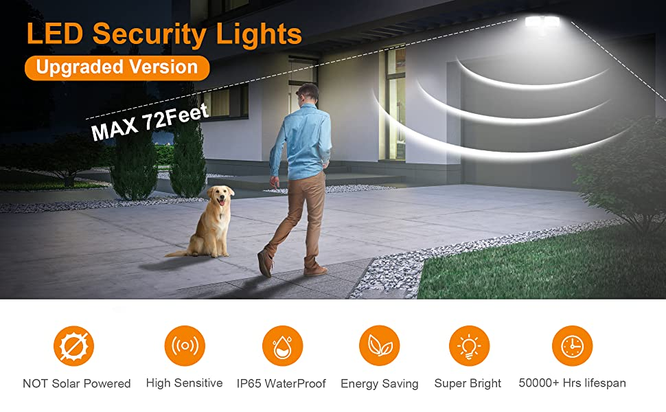 motion security lights outdoor,motion sensor security light,security lighting,led security lights