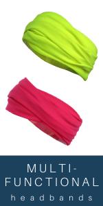 Multifunctional Headbands neon pink yellow