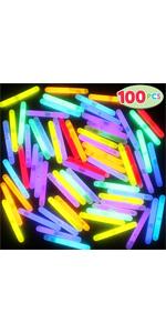 100 Mini Glow Sticks