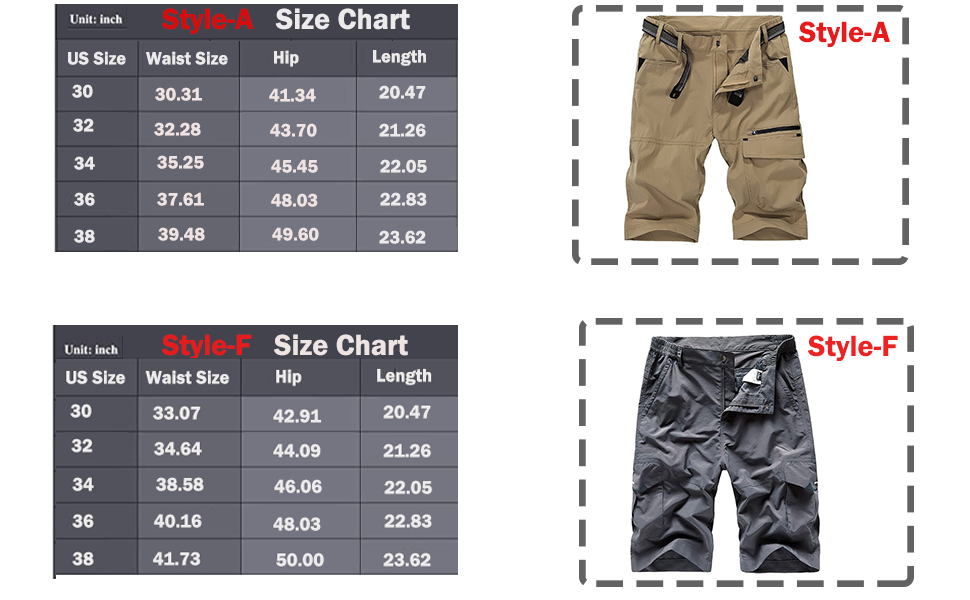 Vcansion Men's Outdoor Lightweight Quick Dry Hiking Shorts Sports Casual Shorts