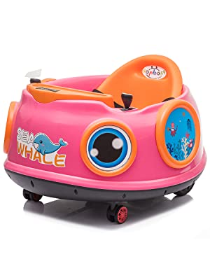 bumper car ride on toddler