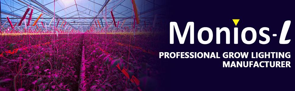 Monios L T5 Grow Lights 4ft Led Plant Grow Light 120w 6 X 20w Led Grow Light Strip For Greenhouse Plant Grow Shelf Plug And Play Easy