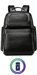 business backpack travel friendly office backpack 15.6 travel backpack leather men backpack work