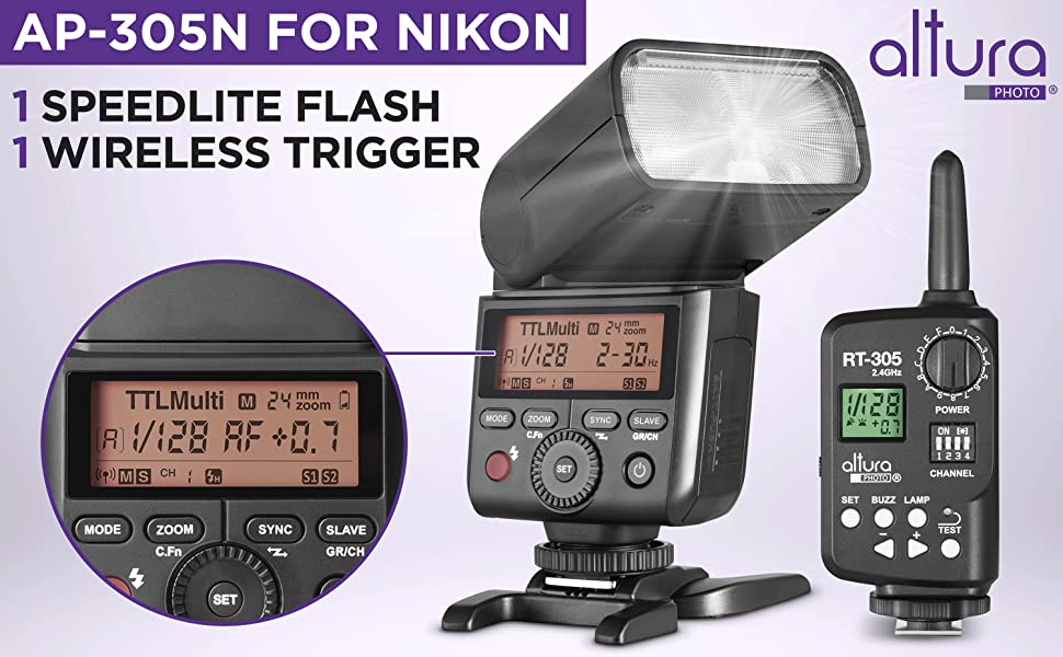 Camera Flash for Nikon by Altura Photo AP-305N