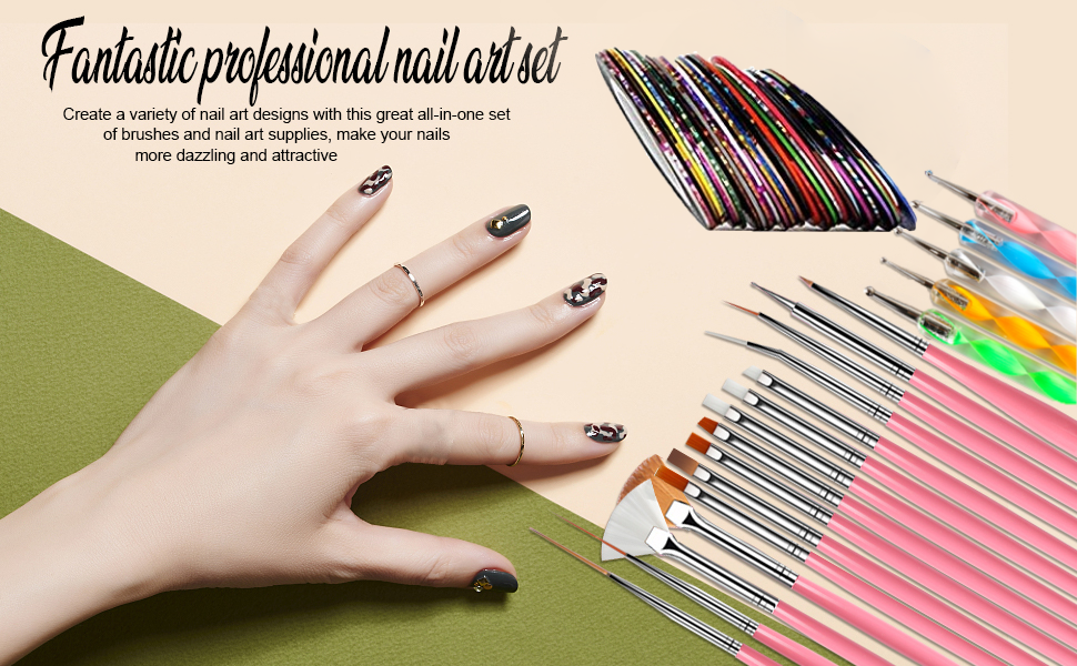 Full nail art professional kit