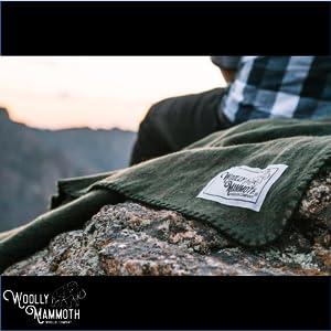 Rugged Green Hiking Wool Blanket