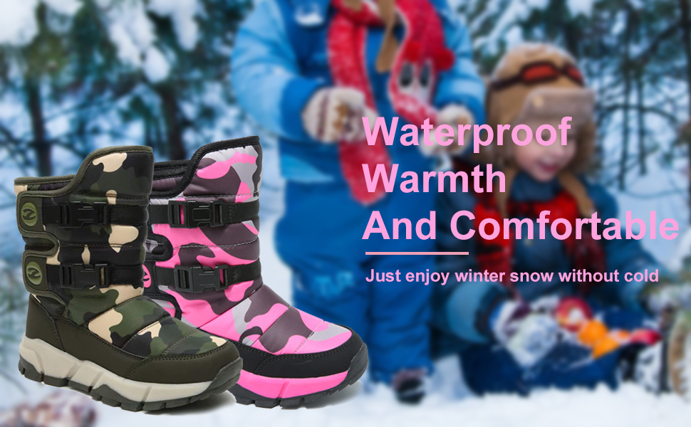 Warmth and Comfortable Winter Waterproof Snow Boots