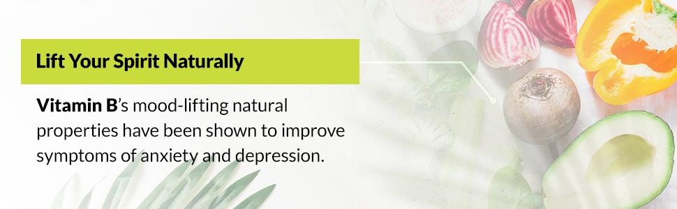 Lift your spirit naturally with vitamin b's mood-lifting natural properties