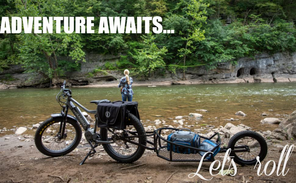 2019 Rambo Mountain Bike Aluminum Single Wheel Cart Hunting Fishing Camping R180