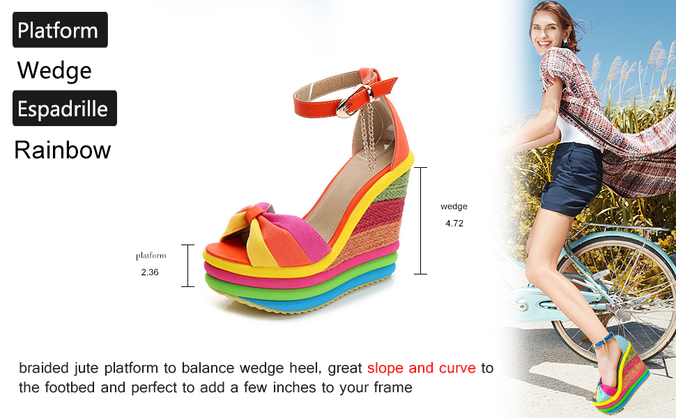 high heel sandals Espadrilles shoes for women platform Wedges sandals