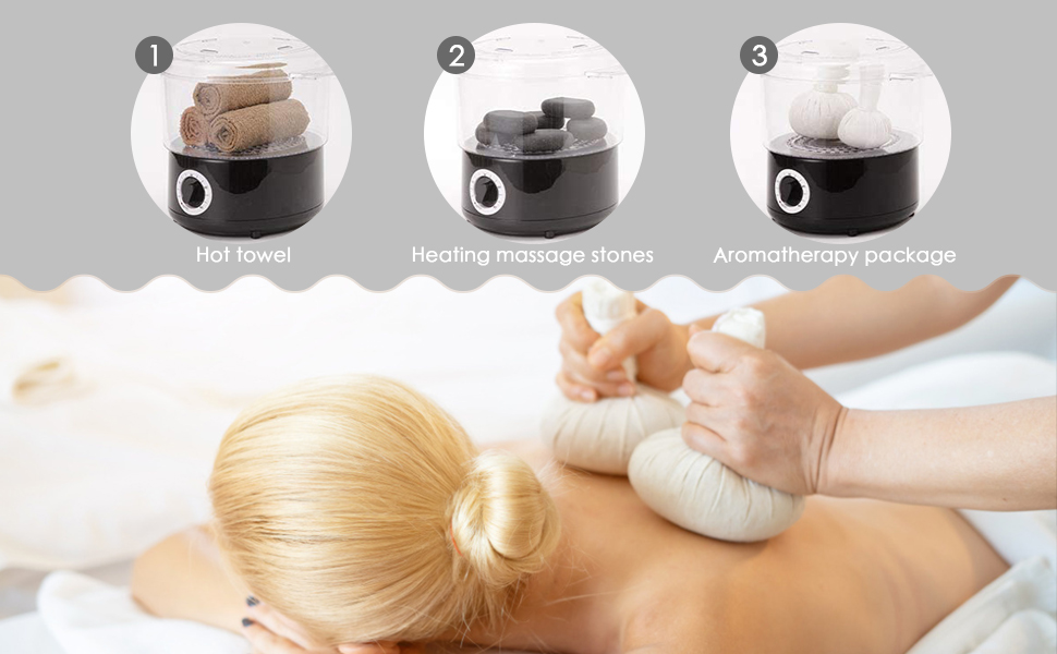 KKTECT Vapeur St/érilisateur de Serviettes /& Appareils de chauffage de Hot Massage Stones 2 en 1 SPA Beaut/é Salon Serviette D/ésinfection /Équipement Soins Personnels De Peau