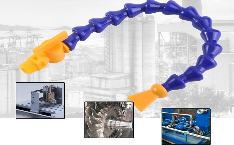 shamjina 6X Flexible Water Oil Coolant Pipe Hose for Lathe//Milling//CNC,Hydraulic Machine