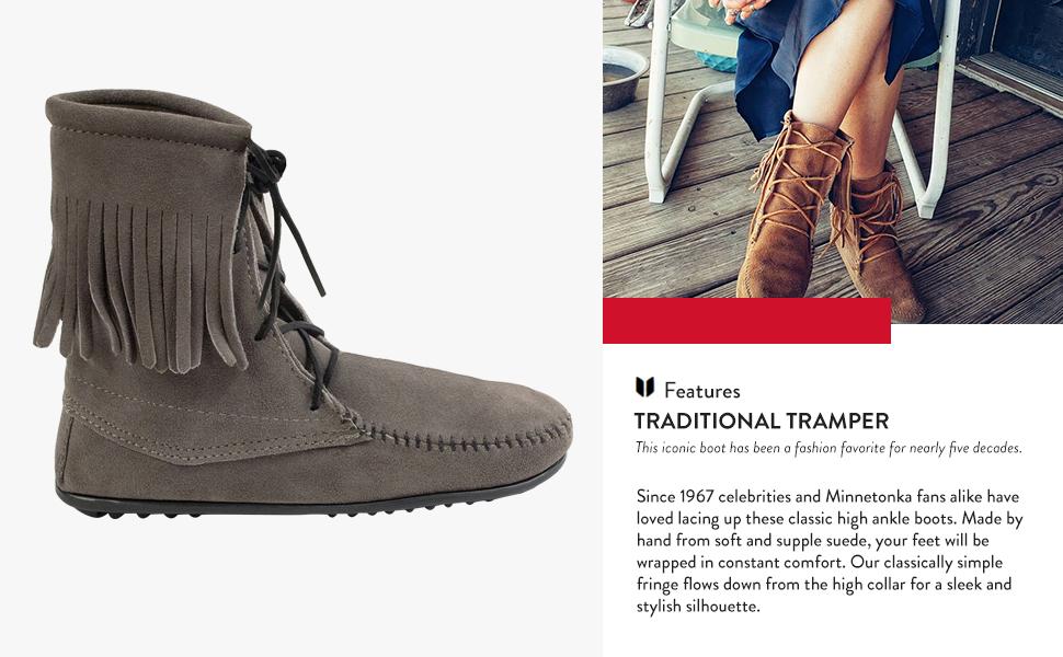 Minnetonka Women S Tramper Ankle Hi Boot Ankle Bootie