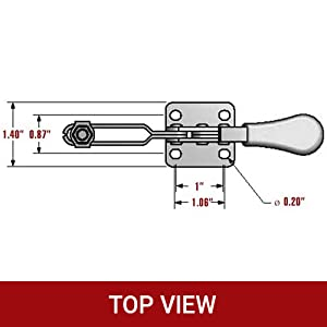 horizontal toggle clamp hand tool 201B toggle clamps hand tool woodworking clamps destaco clamps