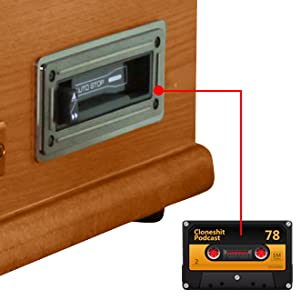 DAB Record Player of dl 7-in-1 Turntable Vintage Wood CD Cassette USB  Player Non Bluetooth Vinyl Player, Built-in Stereo Speakers Vinyl  Turntable, USB