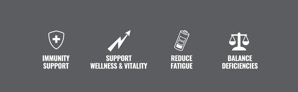 Vita-XT Black provides immunity support, reduces fatigue, and balances deficiencies