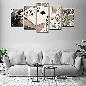 poker wall art gray