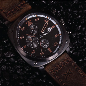 Aimant Dakar Black Brown Watch Mens
