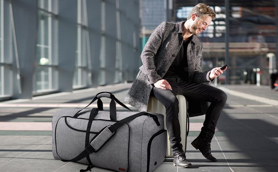 Vogshow Gray Duffle Bag