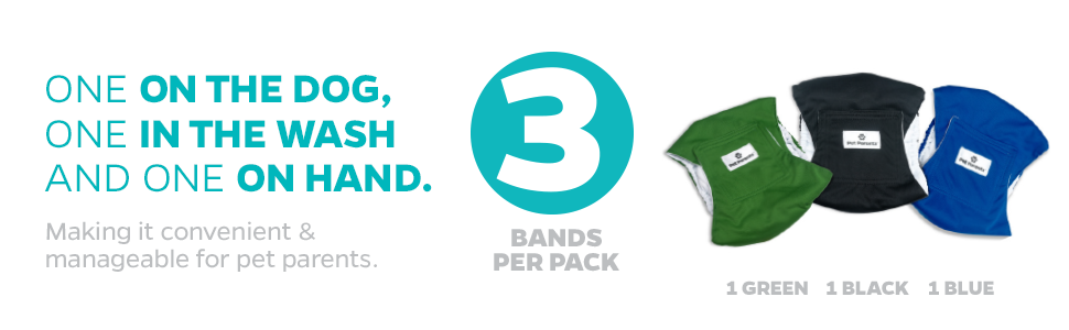 Belly Bands Pack of three
