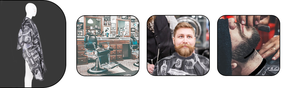Lictin Capa de Peluquería-Capa de Corte de Pelo Impermeable de Salón de Belleza para Corte de Pelo Adultos, TInte y Mechas con un Cepillo de Cuello