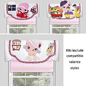 baby nursery decor girls boys toddlers window treatment valance kids bedroom playroom cute easy DIY