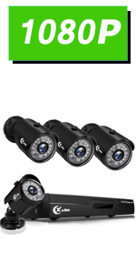 Flashandfocus.com 86385149-6563-4617-acb7-5d6bad0ba669.__CR0,0,150,300_PT0_SX150_V1___ XVIM 8CH 1080P Security Camera System Home Security Outdoor 1TB Hard Drive Pre-Install CCTV Recorder 4pcs HD 1920TVL…