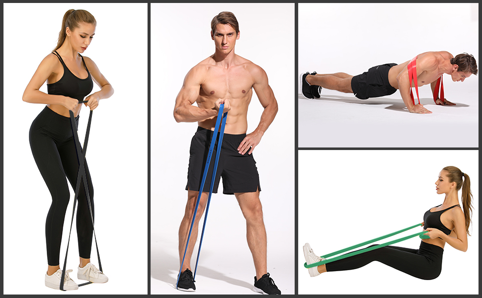 Fitnessbänder Widerstandsbänder Resistance Band Yoga Gymnastik PullUp Bänder