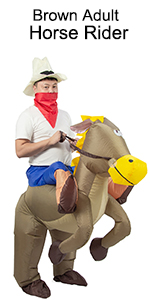 brown adult horse rider costume