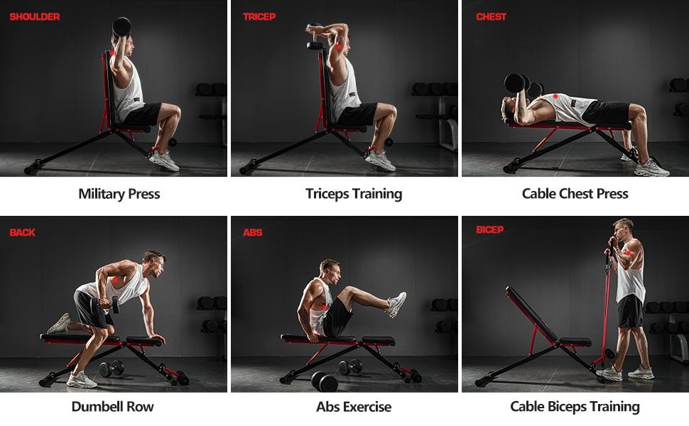 pelpo, Workout options