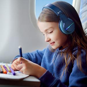 kids headphones with microphone wireless bluetooth headphones for kids children boys school study