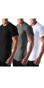 mens 3 pack gym t shirt
