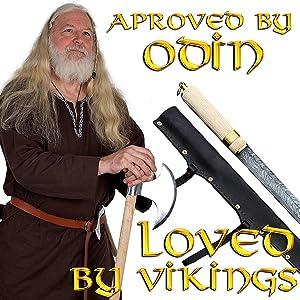 battle ready full tang traditional weapon  daggers Scandinavian Mythrojan viking shieldmaiden seax