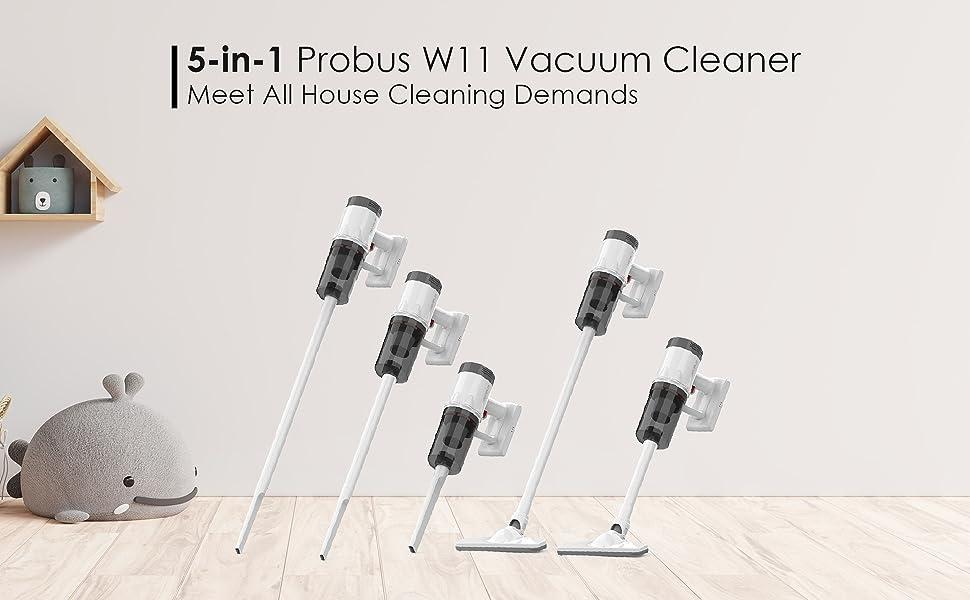 5 in 1 probus w11 handheld vacuum cleaner